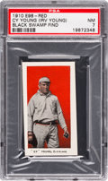 "Baseball Cards:Singles (Pre-1930), 1910 E98 ""Set of 30"" Cy Young - Red (Black Swamp) PSA NM 7. ..."