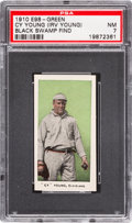 "Baseball Cards:Singles (Pre-1930), 1910 E98 ""Set of 30"" Cy Young - Green (Black Swamp) PSA NM 7. ..."