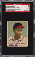 Baseball Cards:Singles (1940-1949), Signed 1949 Bowman Satchell Paige #224 SGC Authentic. ...