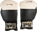 Boxing Collectibles:Autographs, 1979 Muhammad Ali Exhibition Used, Signed Boxing Gloves - Gifted toAspiring Fighter. ...