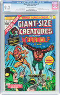Bronze Age (1970-1979):Horror, Giant-Size Creatures #1 (Marvel, 1974) CGC NM- 9.2 Off-white towhite pages....