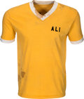 Boxing Collectibles:Memorabilia, 1970's Muhammad Ali Training Worn Camp Shirt from Family of Assistant Trainer. ...