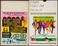 """Movie Posters:Rock and Roll, Go Go Mania & Other Lot (American International, 1965). WindowCards (2) (14"""" X 22""""). Rock and Roll.. ... (Total: 2 Items)"""
