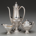 Silver Holloware, American:Coffee Pots, A Three-Piece Tiffany & Co. Silver Coffee Set, New York, NewYork, circa 1892-1902. Marks: TIFFANY & CO, 12053 MAKERS6031... (Total: 3 Items)
