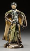 Ceramics & Porcelain, A Whieldon Pottery Figure: Cloaked Turk, Fenton Low, Stoke-on-Trent, England, circa 1760. 5-3/8 inches high (13.7 cm). PRO...