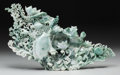 Asian:Chinese, A Chinese Openwork Carved Jade Aquatic Group. 11-3/4 h x 19 winches (29.8 x 48.3 cm). ...
