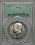 Kennedy Half Dollars, 1966 50C MS66 PCGS. PCGS Population (131/10). NGC Census: (142/2).Mintage: 108,984,928. ...