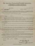 Football Collectibles:Others, 1921 Art Schmaehl and J.E. Clair Signed Acme Packers of Green Bay Player's Contract....