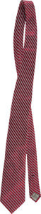 Baseball Collectibles:Others, 2013 Ernie Banks Personally Owned Tie Worn in Presidential Medal ofFreedom Presentation. ...