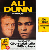 1976 Muhammad Ali vs. Richard Dunn On-Site Fight Poster--One of Two Known