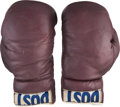 Boxing Collectibles:Memorabilia, Late 1950's Cassius Clay (Muhammad Ali) Amateur Training Worn Boxing Gloves. ...