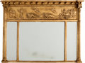 Decorative Arts, British:Other , An Early Victorian Neoclassical Carved and Giltwood OvermantelMirror, circa 1860. 36 h x 54 w x 4-1/2 d inches (91.4 x 137....