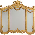 Decorative Arts, French:Other , A Louis XVI-Style Giltwood Mantel Mirror, late 19th century. 65 h x66 w inches (165.1 x 167.6 cm). PROPERTY FROM A DALLAS...