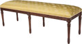 Furniture , A Louis XVI-Style Upholstered Bench, 20th century. 19 h x 59 w x 18 d inches (48.3 x 149.9 x 45.7 cm). PROPERTY FROM A DAL...