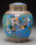 Asian:Japanese, A Large Japanese Cloisonné Covered Jar. 11-3/8 inches high (28.9cm). ...