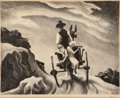Fine Art - Work on Paper:Print, Thomas Hart Benton (American, 1889-1975). Goin' Home, 1937.Lithograph. 9-3/8 x 11-7/8 inches (23.8 x 30.2 cm) (image). ...