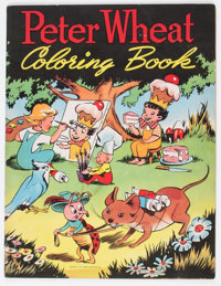Peter Wheat Coloring Book (Bakers Associates, Inc., 1951) Condition: GD/VG