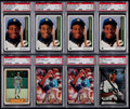 Baseball Cards:Lots, 1982-94 Baseball PSA Graded Baseball Rookie Collection (8)....