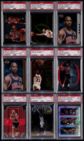 Basketball Cards:Lots, 1993-97 Basketball PSA Graded Collection (9) With Jordan....