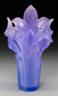 Art Glass:Daum, A Daum Amethyst Pate-de-Verre Glass Amaryllis Vase, Nancy,France, 20th century. Marks: Daum, France, 7. 15 ...