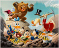 Memorabilia:Disney, Carl Barks Trespassers Will Be Ventilated Signed Limited Edition Lithograph Print #227/345 (Another Rainbow, 1987)...
