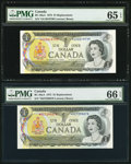 Canadian Currency: , BC-46aA $1 1973 Replacement Pair. ... (Total: 2 notes)