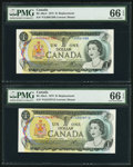 Canadian Currency: , BC-46aA $1 1973 Replacements *F/A and *F/G Prefixes. ... (Total: 2notes)