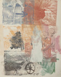 Fine Art - Work on Paper:Print, Robert Rauschenberg (American, 1925-2008). Untitled (Arrow),1984. Offset lithograph in colors. 23 x 18-1/4 inches (58.4...