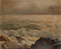 Fine Art - Painting, American:Modern  (1900 1949)  , Frederick Judd Waugh (American, 1861-1940). Seascape. Oil onmasonite. 11-1/2 x 14 inches (29.2 x 35.6 cm). Signed lower...
