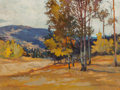 Fine Art - Painting, American:Contemporary   (1950 to present)  , Robert Daughters (American, b. 1929). Near Eagle's Nest. Oilon canvas. 9 x 12-1/4 inches (22.9 x 31.1 cm). Signed lower...