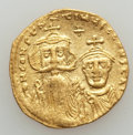 Ancients:Byzantine, Ancients: Constans II & Constantine IV (654-668). AV solidus(4.25 gm). Good Very Fine...