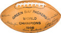 Football Collectibles:Balls, 1967 Green Bay Packers Team Signed Super Bowl II Season Football - With LOA from Dave Robinson! ...