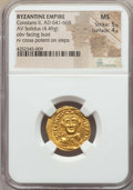 Ancients:Byzantine, Ancients: Constans II (AD 641-668). AV solidus (4.49 gm). NGC MS5/5 - 4/5...