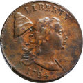 Large Cents, 1794 1C Head of 1793, Edge of 1793, S-19a, B-3a, High R.5, VF35 Bland, VF30 Noyes; XF40 PCGS Secure. ...