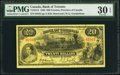 Canadian Currency: , Toronto, ON- Bank of Toronto $20 1935 Jan. 2, 1935 Ch. # 715-24-14....