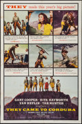 "Movie Posters:War, They Came to Cordura & Other Lot (Columbia, 1959). One Sheets(2) (27"" X 41""). War.. ... (Total: 2 Items)"
