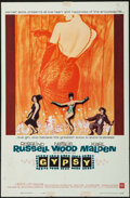 "Movie Posters:Musical, Gypsy (Warner Brothers, 1962). One Sheet (27"" X 41""). Musical.. ..."