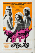 "Movie Posters:Sexploitation, Fly Me (New World Pictures, 1973). One Sheet (27"" X 41"").Sexploitation.. ..."