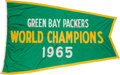 """Football Collectibles:Others, 1965 Green Bay Packers """"World Champions"""" Flag Flown Over Lambeau Field. ..."""