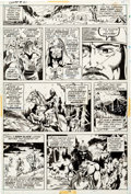 Original Comic Art:Panel Pages, Barry Smith, P. Craig Russell and Others Conan the Barbarian#21 Story Page 8 Original Art (Marvel, 1972)....