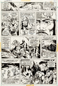 Barry Smith, P. Craig Russell and Others Conan the Barbarian #21 Story Page 8 Original Art (Marvel, 1972)