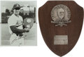 Baseball Collectibles:Others, 1986 Jose Canseco American League Rookie of the Year Award....