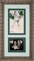 Baseball Collectibles:Others, 1961 Joe DiMaggio Original Artwork by LeRoy Neiman....