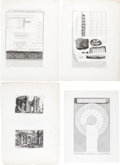 Books:Prints & Leaves, Giovanni Battista Piranesi. Collection of Architectural Plates.[circa 1750-1800]. Thirty-one engraved plates....