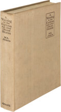 Books:Horror & Supernatural, Montague Rhodes James. A Warning to the Curious. London:1925. First edition....