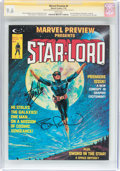 Magazines:Science-Fiction, Marvel Preview #4 Star-Lord - Signature Series (Marvel, 1976) CGCNM+ 9.6 White pages....