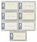 Autographs:Index Cards, Hall of Famers & Superstars Signed Index Cards PSA-Graded Lotof 7. Top-level talent and superb signature quality is the co...