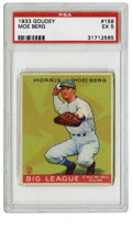 Baseball Cards:Singles (1930-1939), 1933 Goudey Moe Berg #158 PSA EX 5. Though his baseball talents maynot have been Hall of Fame quality, Berg remains one of...