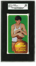 Basketball Cards:Singles (1970-1979), 1970-71 Topps Pete Maravich Rookie #123 SGC 92 NM/MT+ 8.5. One ofthe most beloved figures in post-war basketball history m...