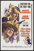 "Movie Posters:Western, The Man Who Shot Liberty Valance (Paramount, 1962). One Sheet (27""X 41""). Western. ..."